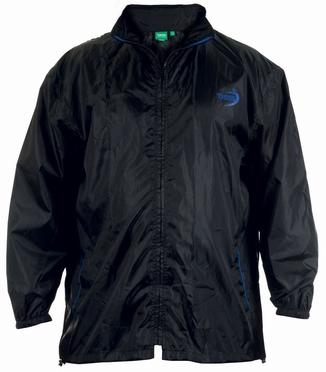 D555 Regenjas met opberghoes, zwart