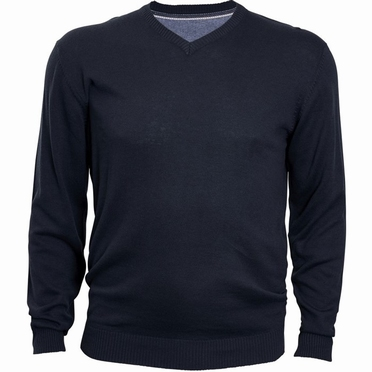 Pullover met V-hals, navy blauw