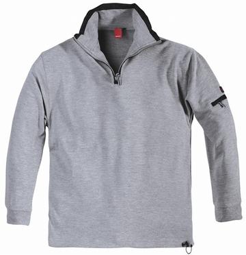 Ottoman sweatshirt, mid grijs