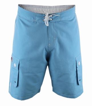 D555 Zwemshort m. zijpockets, aqua blauw