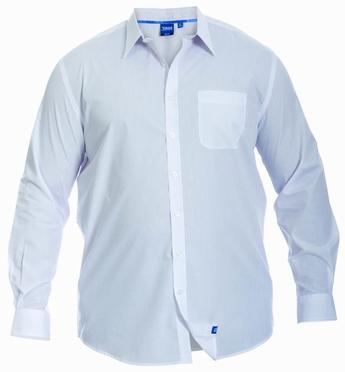 D555 Stijlvol overhemd lange mouw, effen wit