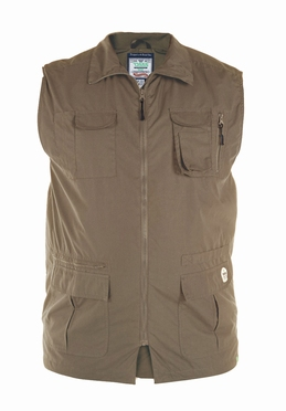 D555 multi-pocket bodywarmer, walnut groen