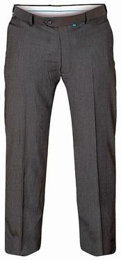Terlenka broek m. rekbare taille, d.grijs