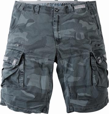 Shorts camouflage-look, camo grijs