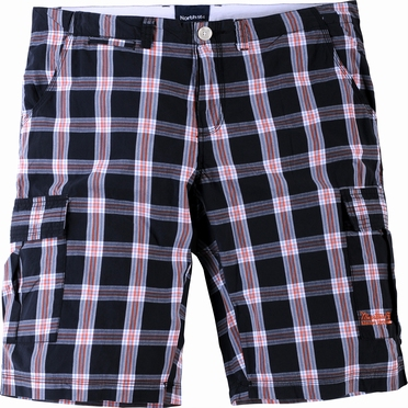 North 56°4  korte shorts, zwart geruit