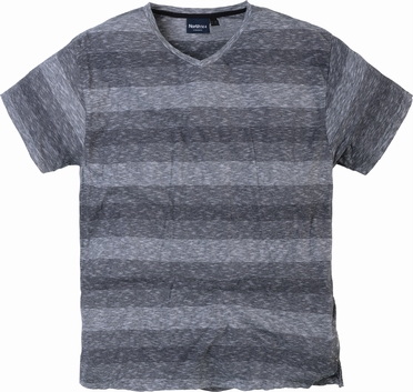 North 56°4 striped V-hals T-shirt, zwart