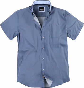 North 56°4 small checked shirt S4 easy care, navy