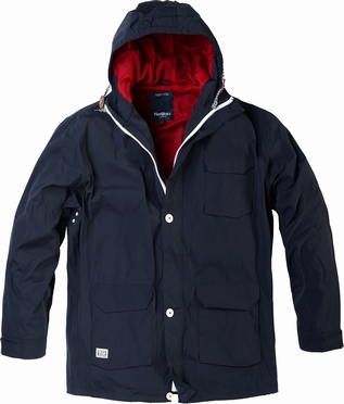 North 56°4  jas 3/4 lang met capuchon, navy
