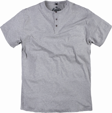 Replika granddad t-shirt korte mouw, l.grijs