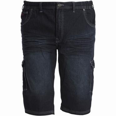 Replika denim shorts m. elastisch boord, denim