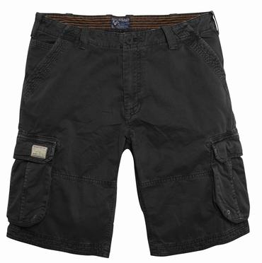 Replika cargo shorts, zwart