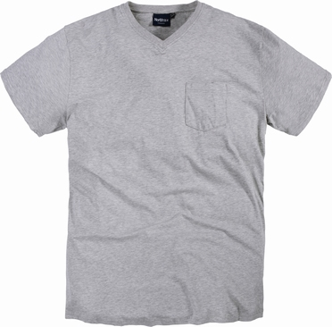 North 56°4  US t-shirt V-hals+borstzak, grijs mélee