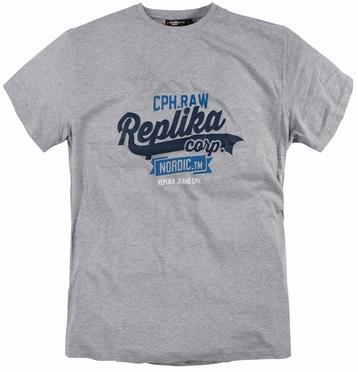 Replika  US t-shirt 'Replika Corp', grijs mélee