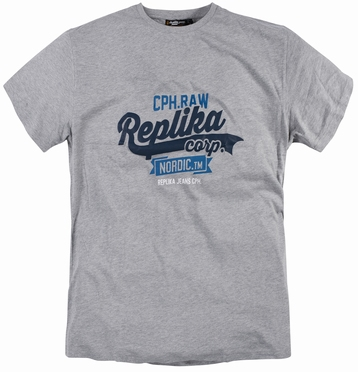 Replika  US t-shirt 'Replika Corp', grijs mélee