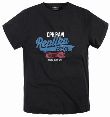 Replika  US t-shirt 'Replika Corp', zwart