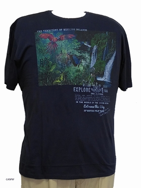 Kitaro t-shirt Explore Keeling Islands, navy