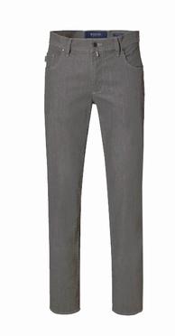 Pionier 5-pocket jeans Peter stretch m. hoge taille, dgrijs