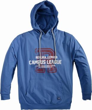 Replika sweater hooded 'Campus League', mid blauw