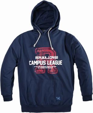 Replika sweater hooded 'Campus League', navy blauw