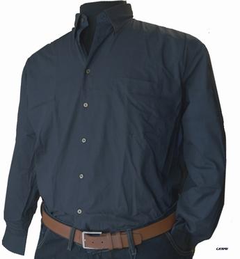 GCM Overhemd fijn printje lange mouw, zwart