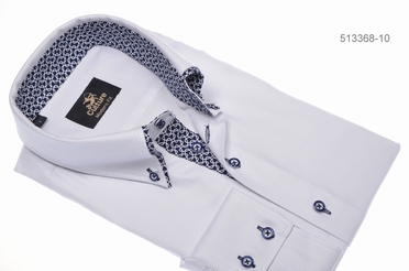 Culture blouse lange mouw SEATTLE, wit m. contrastboord