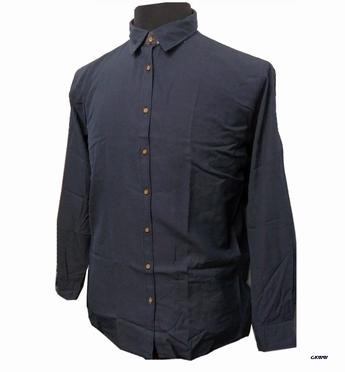 GCM Overhemd sportief lange mouw, navy