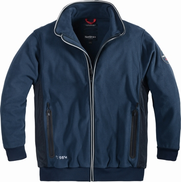 North 56°4 softshell jack 3000mm, navy blauw