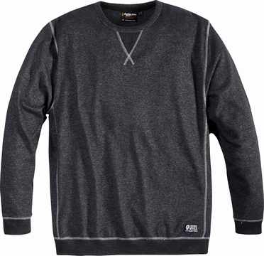 Replika crew neck sweater, antraciet melee