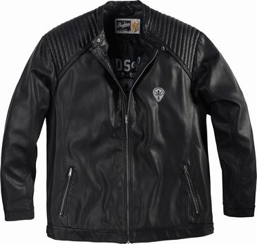 Replika biker jack PU, zwart