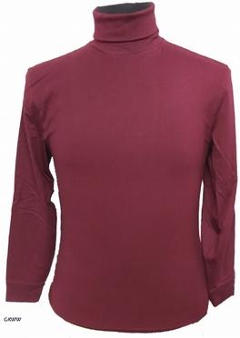 Kitaro t-shirt lange mouw met col, wijnrood