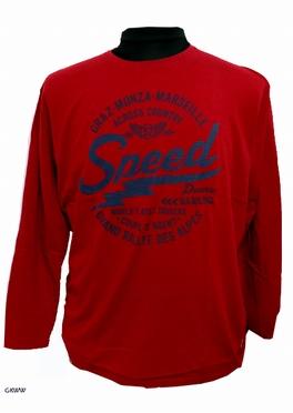 Kitaro t-shirt lange mouw 'Speed', donkerrood