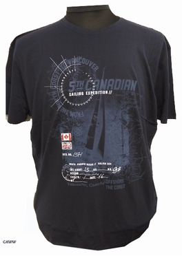 Kitaro t-shirt 'Sailing Expedition', navy blauw