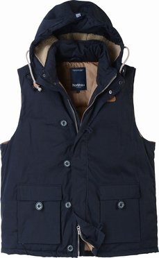 North 56°4 bodywarmer met capuchon, navy
