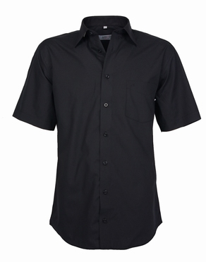 zwarte blouse korte mouw