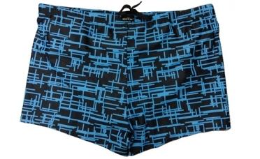Zwembroek m. pijpjes Mozaiek, navy blauw