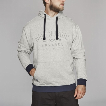 North 56°4 hooded sweater, lichtgrijs melée