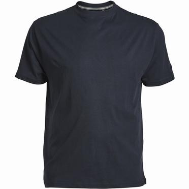 US T-shirt, effen navy blauw