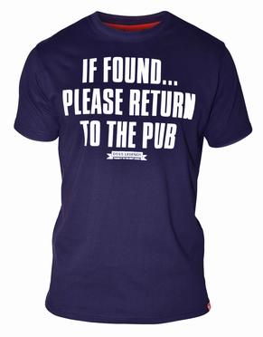 T-shirt 'Return to the pub', navy