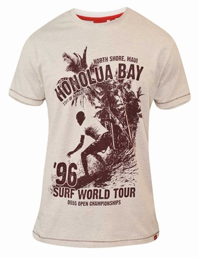 T-shirt 'Surf World Tour Honolua Bay', wit melée
