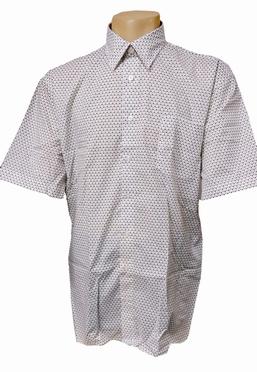 GCM Overhemd met fijn printje, wit