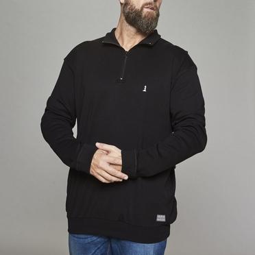 North 56°4 sweater met rits, zwart