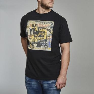 Replika printed t-shirt 'Beatles', zwart