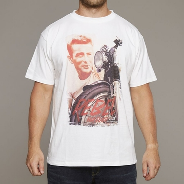 Replika printed t-shirt James Dean, wit