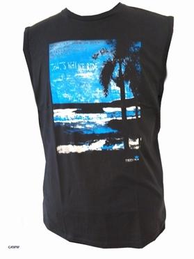 Replika tanktop Beach, zwart