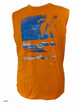 Replika tanktop Beach, oranje