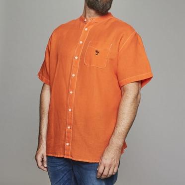 Replika shirt KM katoen/linnen, oranje