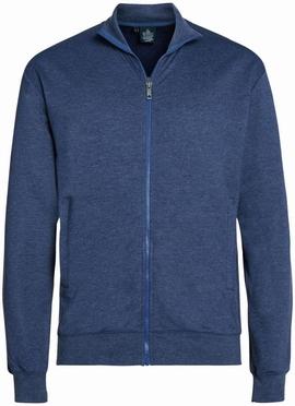 Ahorn sportief vest met rits, blauw-grijs melée