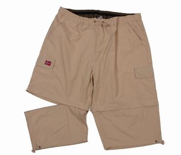 Afritsbare 2-in-1 Cargo korte broek, sand