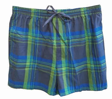 Zwemshorts Schotse ruit, navy-blauw-groen