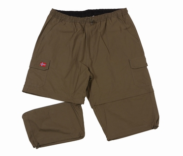 Afritsbare 2-in-1 Cargo korte broek, khaki